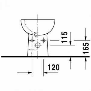 Duravit D-Code pastatoma bidė 35,5x52,5 The bidet