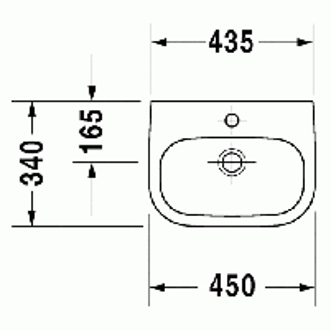 Duravit D-Code praustuvas 45x34
