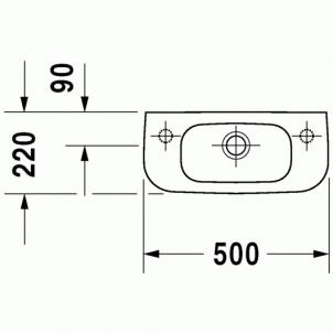 Duravit D-Code praustuvas 50x22