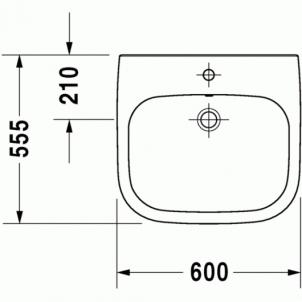 Duravit D-Code praustuvas 60x55