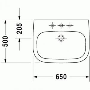 Duravit D-Code praustuvas 65x50