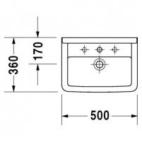 Duravit praustuvas Starck 3 (60,55,50cm) Praustuvai