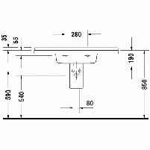 Duravit Starck3 praustuvas 105x48,5