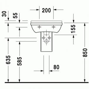 Duravit Starck3 praustuvas 45x32