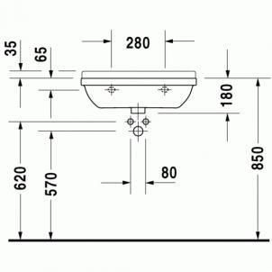 Duravit Starck3 praustuvas 60x37 Compact