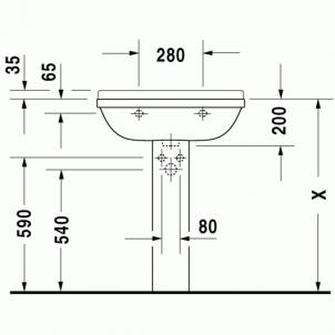 Duravit Starck3 praustuvas 65x48,5