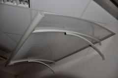 Door canopies STARKEDACH Lightline 160x100x35 cm. Grey frame. Transparent cover