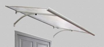 Door canopies STARKEDACH Straight 160x100x30 cm. Pilkas rėmas