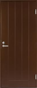 Durys BASIC B0010 rudos dešininės 990x2090 mm Metalinės durys