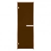 Sauna doors Klasika 70x200  cm bronze, 8 mm tempered glass