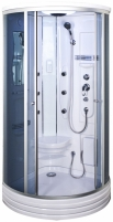 Shower enclosures Duschy ketursienė su masažu 103x103х217cm LED tamsin