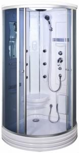 Dušo kabina Duschy ketursienė su masažu 103x103х217cm LED tamsin