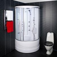 Dušo kabina Duschy ketursienė su masažu 103x103х217cm LED