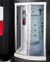 Dušo kabina Duschy ketursienė su masažu 115x85x217cm LED