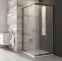 Dušo kabina kvadratinė Ravak Blix, BLRV2-90, satinas+stiklas Grape Dušas kabīnes