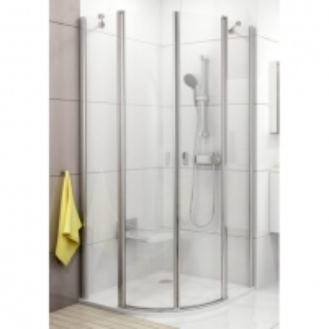 Dušo kabina Ravak Chrome CSKK4-90 balta/Transparent Dušas kabīnes