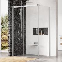 Shower enclosures Ravak Matrix, MSDPS-120/90, L satinas+Transparent Shower enclosures