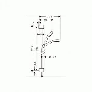 Dušo komplektas Croma Select S 1 jet 0,9m