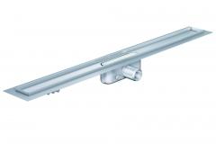 Dušo latakas Aco ShowerDrain C, 785, aukštis 92 mm, su ruošiniu plytelėms, horizontali jungė Shower drains