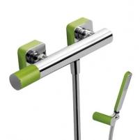 Dušo maišytuvas LOFT Colors su dušo komplektu, žalia/chromas Dušo maišytuvai