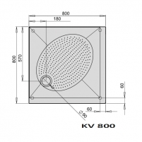 Shower tray ART KV80 Shower tray