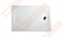 Dušo padėklas PAA ART 80x120 su kojelėmis, be panelės, baltas