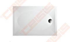 Dušo padėklas PAA ART 80x120 su panele ir kojelėmis, baltas Shower tray