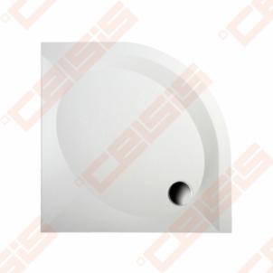 Dušo padėklas PAA ART 80x80 su panele ir kojelėmis, baltas (radius 550) Shower tray