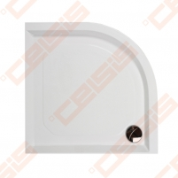 Dušo padėklas PAA CLASSIC 100x100 su panele ir kojelėmis, baltas (radius 550) Shower tray