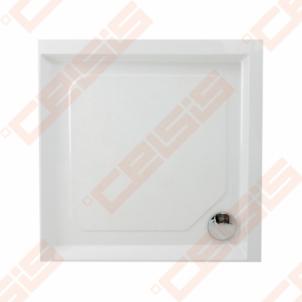 Dušo padėklas PAA CLASSIC 100x100 su panele ir kojelėmis, baltas