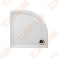 Dušo padėklas PAA CLASSIC 80x80 su panele ir kojelėmis, baltas (radius 550)