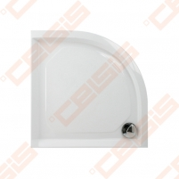 Dušo padėklas PAA CLASSIC 80x80 su panele ir kojelėmis, pilkas (radius 550)