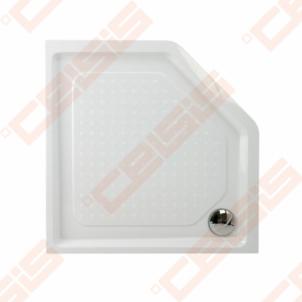 Dušo padėklas PAA CLASSIC 900x900x500 su panele ir kojelėmis, baltas