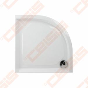 Dušo padėklas PAA CLASSIC 90x90 su panele ir kojelėmis, baltas (radius 500)