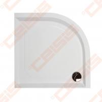 Dušo padėklas PAA CLASSIC 90x90 su panele ir kojelėmis, pilkas (radius 550)
