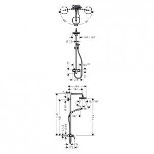 Dušo sistema Croma Select E180 (27258400) Dušas krāni