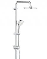 Dušo sistema NTempesta Cosmopolitan 200 (stac.galva* Ø200, alkūnė 390mm, rankinis dušas) be maišytuvo, chromas