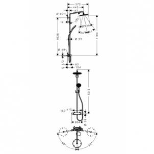 Dušo sistema Raindance Select240 Showerpipe 27115000