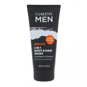 Dušo žele Lumene Men Motivate 2in1 Body & Hair Wash Cosmetic 200ml Dušo želė