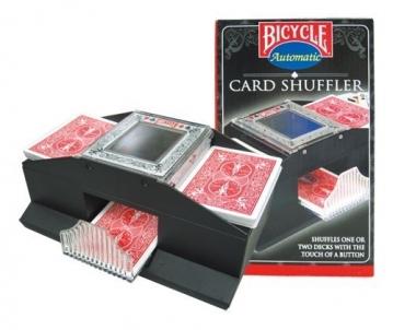Dviejų kortų kaladžių automatinis maišytuvas