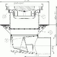 Dvigubas trapas HL615 Perfect, uždedamas elementas su porėmiu iš polipropileno