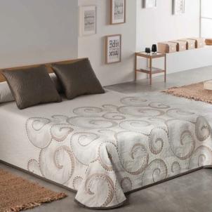 Dvipusė lovatiesė Antika, 250x270 cm (pilkai ruda)