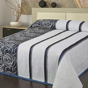 Dvipusė lovatiesė Modernus Šuolis, 250x260 cm (mėlyna-balta)