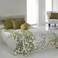 Dvipusis lovos užtiesalas Geiša, 250x270 cm (žalsva)