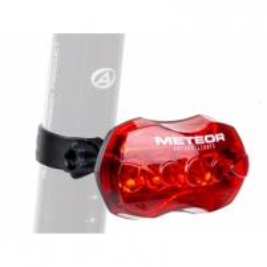 Dviračio apšvietimas A-Meteor R(B+) black/red lens Apšvietimas dviračiams