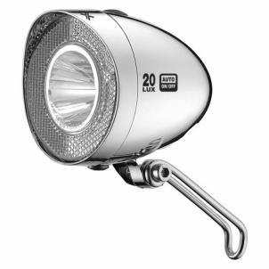 Dviračio apšvietimas Headlights LED Retro Reflector 20Lux switch Gaismas velosipēdi