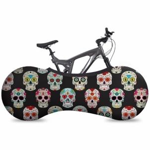 Dviračio uždengimas, vidaus VELOSOCK Indoor bike cover Skulls Dviračių priedai