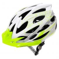 Dviratiniko šalmas METEOR GRUVER white/green Bicycle helmets