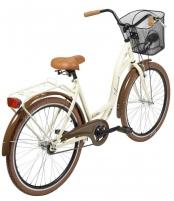 Dviratis AZIMUT City Lux 26 2020 su krepšeliu cream-brown Miesto dviračiai