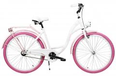 Dviratis AZIMUT City Lux 26 2020 white-pink